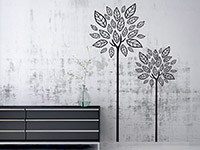 Moderne Wandtattoo Bäume in schwarz im Flur