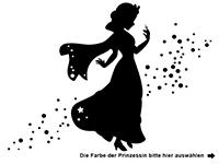 Wandtattoo Märchenprinzessin Motivansicht