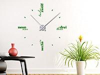 Wandtattoo Uhr Sprachen in Farbe