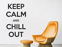 Wandtattoo Keep calm and chill out