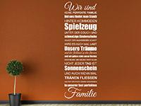 Wandtattoo Wir sind keine perfekte Familie | Bild 3