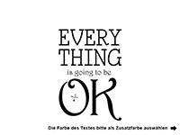 Wandtattoo Everything ok Motivansicht