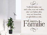 Wandtattoo Unsere Familie | Bild 3