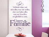 Wandtattoo Unsere Familie | Bild 4