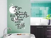 Wandtattoo Badezimmer Wortwolke | Bild 3