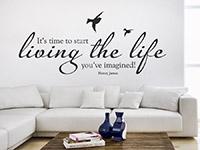 Wandtattoo Time to start living | Bild 2