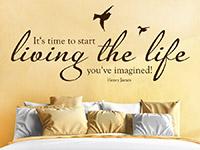 Wandtattoo Time to start living | Bild 3