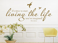 Wandtattoo Time to start living | Bild 4