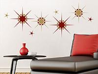 Zweifarbiges Wandtattoo Sternenornament auf hellem Hintergrund