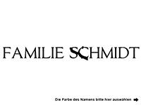 Wandtattoo Familienname zweifarbig Motivansicht