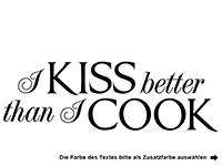Wandtattoo I kiss better Motivansicht