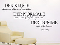 Wandtattoo Der Kluge | Bild 2