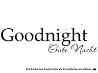 Wandtattoo Goodnight Motivansicht