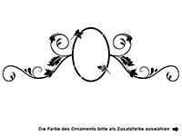 Wandtattoo Familienname mit Ornament Motivansicht