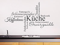 Wandtattoo Wortwolke Küche als stylische Küchendeko