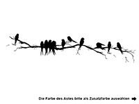 Wandtattoo Zierlicher Ast mit Vögeln