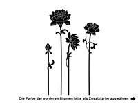 Wandtattoo Zweifarbige Blumen Motivansicht