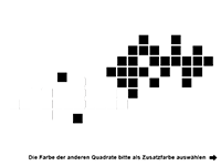 Wandtattoo Design Quadrate Motivansicht