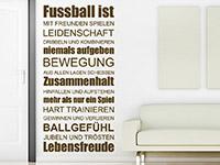 Wandtattoo Fußball ist Leidenschaft | Bild 3