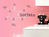 Wandtattoo Koffein Molekül zweifarbig | Bild 2