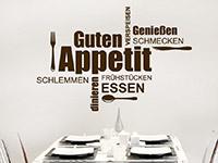 Wandtattoo Wortwolke Guten Appetit | Bild 2