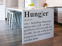 Hunger Begriff Wandtattoo am Küchenblock