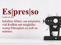 Wandtattoo Definition Espresso | Bild 3