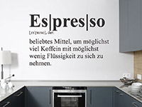 Wandtattoo Definition Espresso | Bild 4