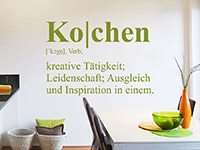 Wandtattoo Kochen Definition
