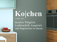 Wandtattoo Definition Kochen | Bild 4