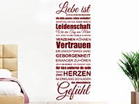 Wandtattoo Spruchband Liebe ist | Bild 2