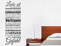 Wandtattoo Spruchband Liebe ist | Bild 4