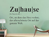 Wandtattoo Definition Zuhause | Bild 2