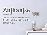 Wandtattoo Definition Zuhause | Bild 3