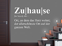Wandtattoo Definition Zuhause | Bild 4