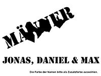 Wandtattoo Männer WG mit Wunschnamen Motivansicht