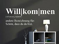 Wandtattoo Definition Willkommen | Bild 3