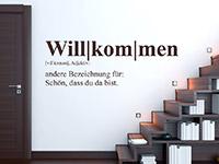 Wandtattoo Definition Willkommen | Bild 4