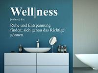 modernes Begriff Wandtattoo Wellness im bad