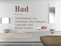 Begriff Wandtattoo Bad Definition auf hellem Hintergrund