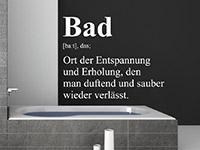 originelles Bad Begriff Wandtattoo über der Badewanne
