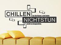 Wandtattoo Chillen und Nichtstun | Bild 2