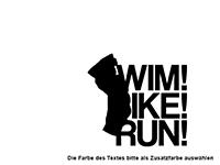 Wandtattoo Swim Bike Run Motivansicht