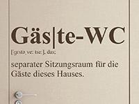 Wandtattoo Gäste-WC | Bild 3