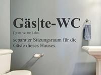 Begriff Erklärung Gäste-WC auf hellem Hintergrund