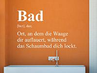 Wandtattoo Bad Definition 3