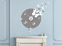Wandtattoo Zweifarbige Uhr mit Schmetterlingen | Bild 2