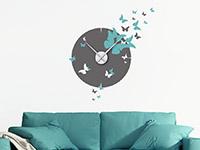 Wandtattoo Zweifarbige Uhr mit Schmetterlingen | Bild 3