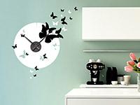 Wandtattoo Zweifarbige Uhr mit Schmetterlingen | Bild 4