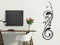Stilvolles Wandtattoo Eleganter Schnörkel in schwarz